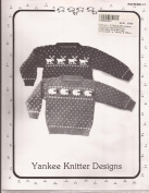 Yankee Knitter Designs Knitting Pattern #1 Child's Sheep & Reindeer Sweaters
