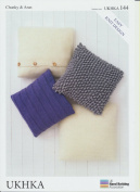 Chunky & Aran Yarn Knitting Pattern - Easy Knit Design Cushion Covers
