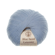 Mist - Woolyknit Blue Faced Leicester DK, Pack of 10 x 50g Balls (500g) + Free Woolyknit Pattern |100% British Light Worsted Hand Knitting Wool Yarn