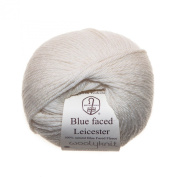 Cream - Woolyknit Blue Faced Leicester DK, Pack of 10 x 50g Balls (500g) + Free Woolyknit Pattern |100% British Light Worsted Hand Knitting Wool Yarn