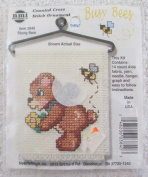 Busy Bee Counted Cross Stitch Ornament Stung Bear
