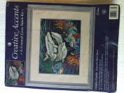 "Creative Accents Counted Cross Stitch ""Dolphin Family"""