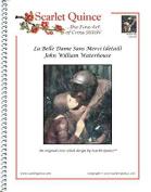 Scarlet Quince WAT020-Dlg La Belle Dame Sans Merci (detail) by John William Waterhouse Counted Cross Stitch Chart, Large Size Symbols