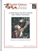 Scarlet Quince WAT020-D La Belle Dame Sans Merci (detail) by John William Waterhouse Counted Cross Stitch Chart, Regular Size Symbols