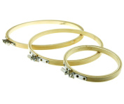 4,6, & 20cm ROUND BAMBOO HOOPS/RINGS FOR EMBROIDERY CROSS STITCH SEWING