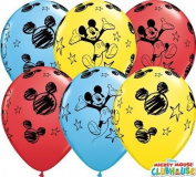 Mickey Mouse Non Message 28cm Qualatex Latex Balloons x 10