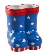 Miles Kimball Patriotic Rain Boots Planter