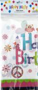 Happy Birthday Plastic Table Cover Peace