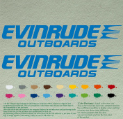 Pair of Evinrude Outboards Decals Vinyl Stickers Boat Outboard Motor Lot of 2
