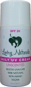 Loving Naturals Daily UV Cream Unscented SPF 20 Sunscreen Non-Nano Zinc Oxide UVA/UVB 120ml