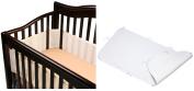 BreathableBaby Breathable Mesh Crib Bumper with Ultimate Crib Sheet, Ecru