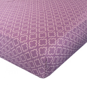 Carters Printed Fitted Sheet - Lilac Dream Diamond