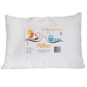 Toddler Pillow Is Perfect for Sleeping or Travel;features an Organically Inspired, Hypo-allergenic Design and 100%cotton Cover. Soft and Supportive, This Pillow Is the Best for Any Little Head. 100% Satisfaction Guarantee!