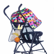 Sannysis Baby Kids Stroller Hanging Accessories Nappy Net Bag Black