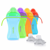 Bebek Soft and Flexible Spout w/Handles Cup + extra Spouts Combo