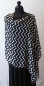 Nursing Cover Chevron Blk/Wht
