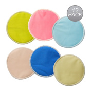 LOVE MY(TM) Natural Antibacterial,Super Soft Bamboo nursing pads,Super Water Absorbent pads for breastfeeding mothers,Reusable and Washable Breastfeeding Pads,All-natural Bamboo Against Your Skin, with Absorbent Mid-layer and Water-resistant Outer to P ..