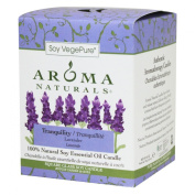 Aroma Naturals Tranquilly Square Glass Soy Candle, Lavender, 200ml