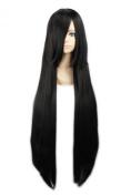 "LOUISE MAELYS 39"" 100cm Wig Black Long Straight Anime Cosplay Hair Halloween Costume"
