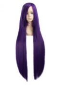 "LOUISE MAELYS 39"" 100cm Wig Purple Long Straight Anime Cosplay Hair Halloween Costume"
