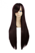 "LOUISE MAELYS 31"" 80cm Brown Long Straight Anime Hair Cosplay Costume Party Full Wigs"