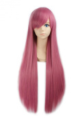 """LOUISE MAELYS 31"""" 80cm Fuchsia Long Straight Anime Cosplay Costume Party Wigs Hair Extension"""