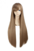 "LOUISE MAELYS 31"" 80cm Blonde Brown Long Straight Anime Hair Cosplay Costume Party Full Wigs"