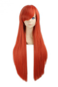 "LOUISE MAELYS 31"" 80cm Orange Red Long Straight Anime Hair Cosplay Costume Party Full Wigs"