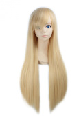"LOUISE MAELYS 31"" 80cm Gold Long Straight Anime Hair Cosplay Costume Party Full Wigs"