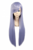 """LOUISE MAELYS 31"""" 80cm Light Purple Long Straight Anime Hair Cosplay Costume Party Full Wigs"""