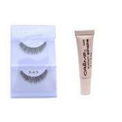 12 Pairs Crème 100% Human Hair Natural False Eyelash Extensions Black #747XS