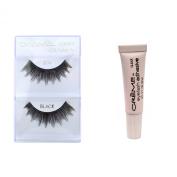 12 Pairs Crème 100% Human Hair Natural False Eyelash Extensions Black #74 Dark Full Lashes