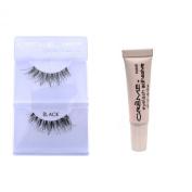 12 Pairs Crème 100% Human Hair Natural False Eyelash Extensions Black #DW natural Long Lashes