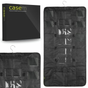 Black Hanging Closet Organiser Storage Bag with Pockets for Makeup, Beauty Products, Styling Tools, Electronic Device Cases, Cell Phone Accessories, Hair Accessories