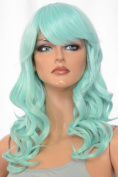 Epic Cosplay Hestia Mint Green Curly Wig 60cm