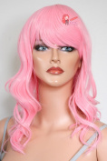 Epic Cosplay Hestia Princess Pink Curly Wig 60cm