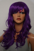 Epic Cosplay Hestia Lux Purple Curly Wig 60cm