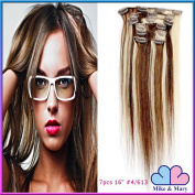 Clip in 41cm 7pcs STW Straight Remy Human Hair Clip in Hair Extensions 70grm 7pcs Set with 16 Clips Mike & Mary®