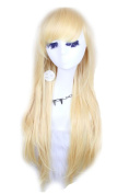 Blonde Straight Layer Women Full Wigs Cosplay Wigs Anime Hair Cw109-e