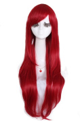 Heat resistant Straight Red girl Full Wigs anime hair cw109B