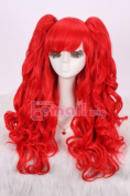 Gothic Lolita Long Curly Women Wave Colourful Cosplay Wig with Ponytails 7 Colours Full Wigs Rw137E