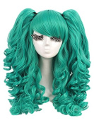 L-email 14 Colours Long Lolita Clip on Ponytails Wavy Cosplay Hair Wig
