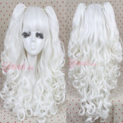 Gothic Lolita Full Wig Curly Wave Hair Long Cosplay Wig with Ponytails