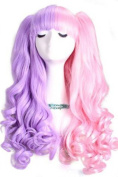 Nuoqi Lolita Synthetic Wigs Clip-on Ponytails Curly Wave Hairs Cosplay Wigs
