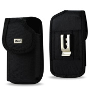 Reiko Horizontal Pouch Case for Samsung Galaxy S5 - Retail Packaging - Black