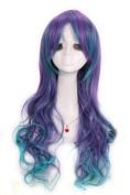 60cm Long Blue & Purple Vocaloid3 Luka Wavy Party Wig C29004