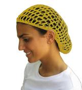 Yellow Hair Net - Snood - Crochet Hair Net Snood In Yellow
