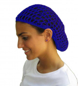 Blue Hair Net - Snood - Crochet Hair Net Snood In Blue