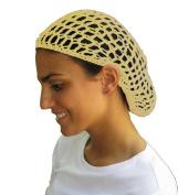 Beige Hair Net - Snood - Crochet Hair Net Snood In Beige