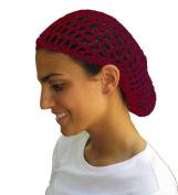 Wine Hair Net - Snood - Crochet Hair Net Snood In Wine